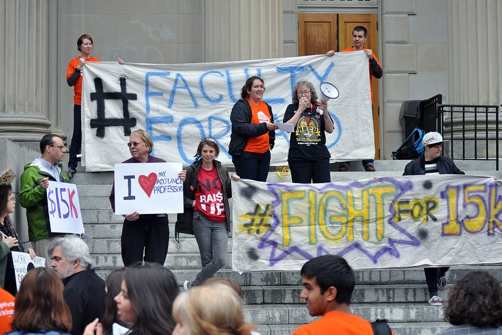 Campaign to win better pay for adjunct faculty gains steam in NC