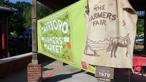 The Carrboro Farmers' Market celebrated its 40th birthday on Saturday, June 1. Photo courtesy of Molly Vaughan.
