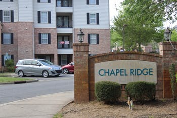 Chapel Ridge Apartments is an off-campus apartment complex where many UNC students live.