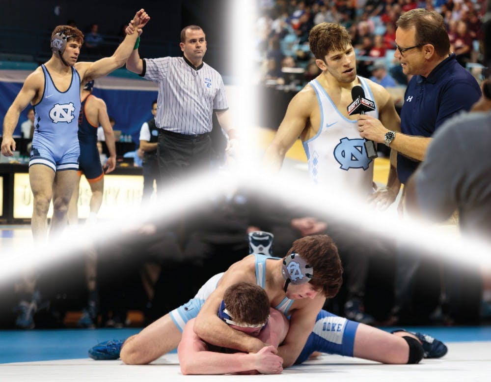 All-American wrestler Troy Heilmann never forgets his New Jersey roots