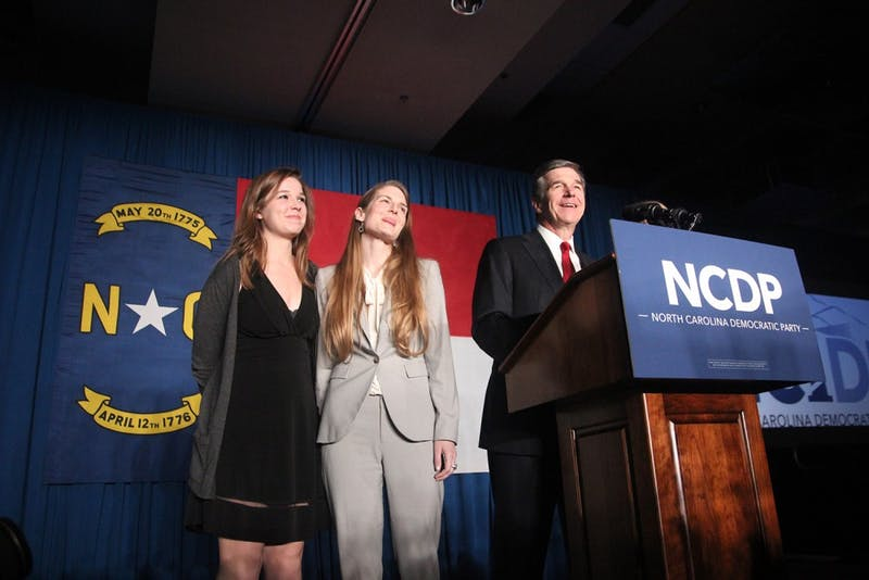 North Carolina Democratic Gubernatorial candidate Roy Cooper speaks at the North Carolina Democratic Party in Raleigh. Cooper officially was announced the winner on Dec. 5.