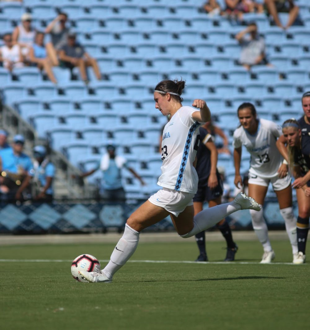 Career night for Wubben-Moy guides UNC to ACC semis in 3-0 win over Notre Dame