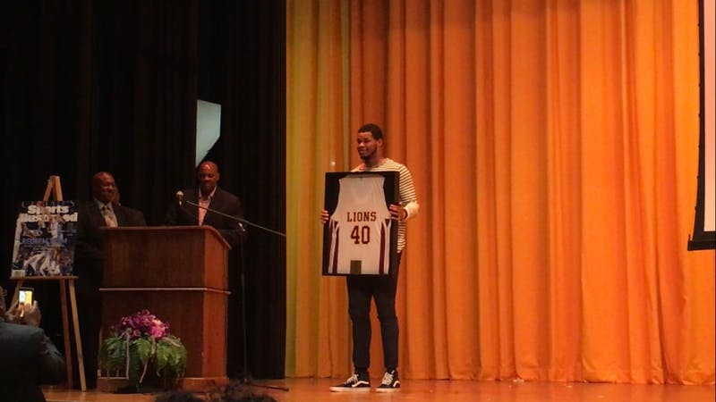 West Charlotte High School honoredalumnusKennedy Meeks with a ceremony on May 25.