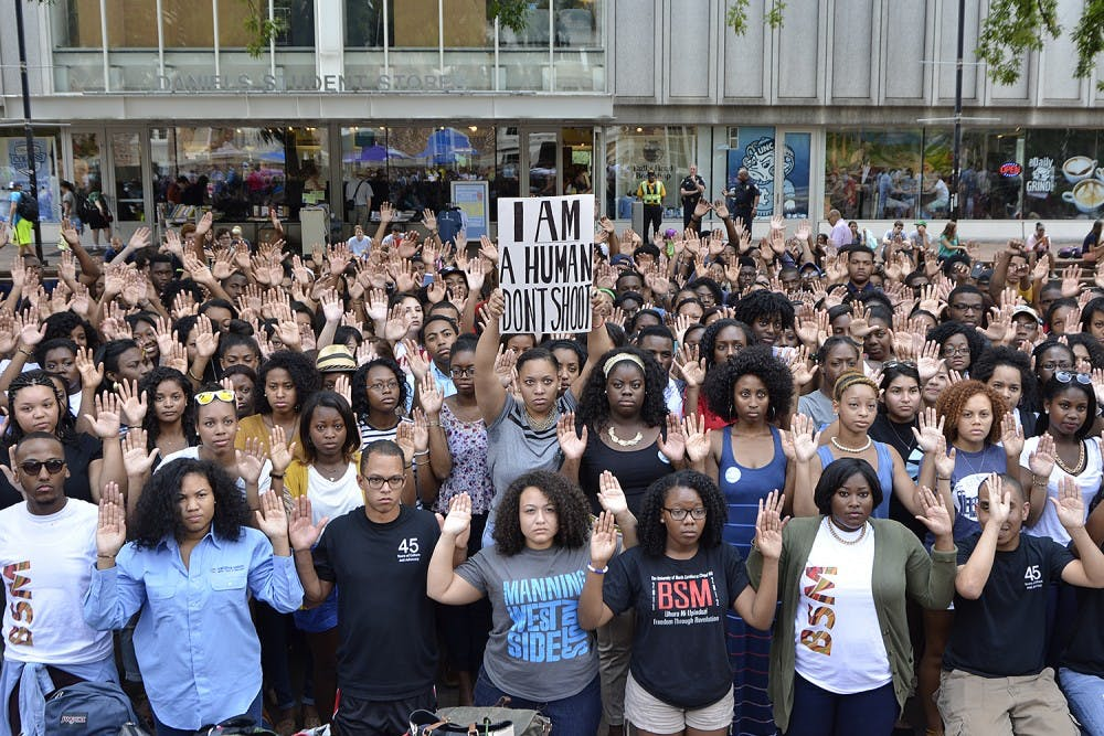 "Black Student Movement localizes ""Don't Shoot"" campaign"