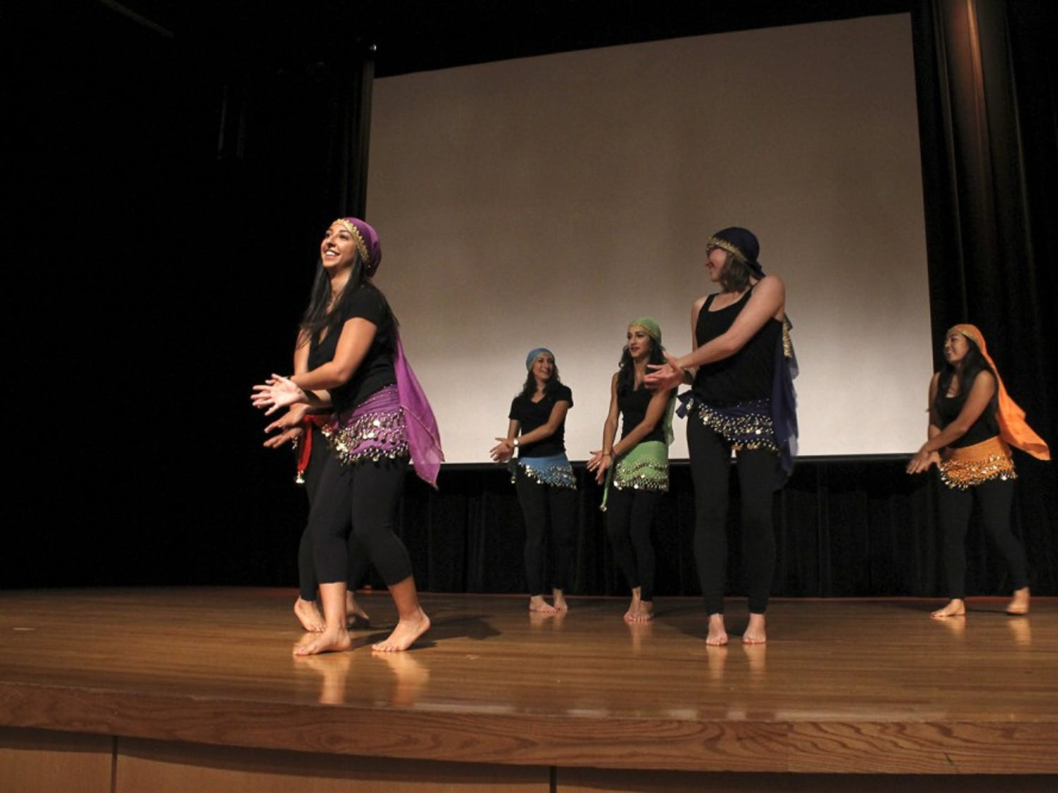 """The Persian Cultural Society dance team performs at """"1,001 Nights,"""" an event hosted by the society Thursday allowing students to explore Middle Eastern culture."""