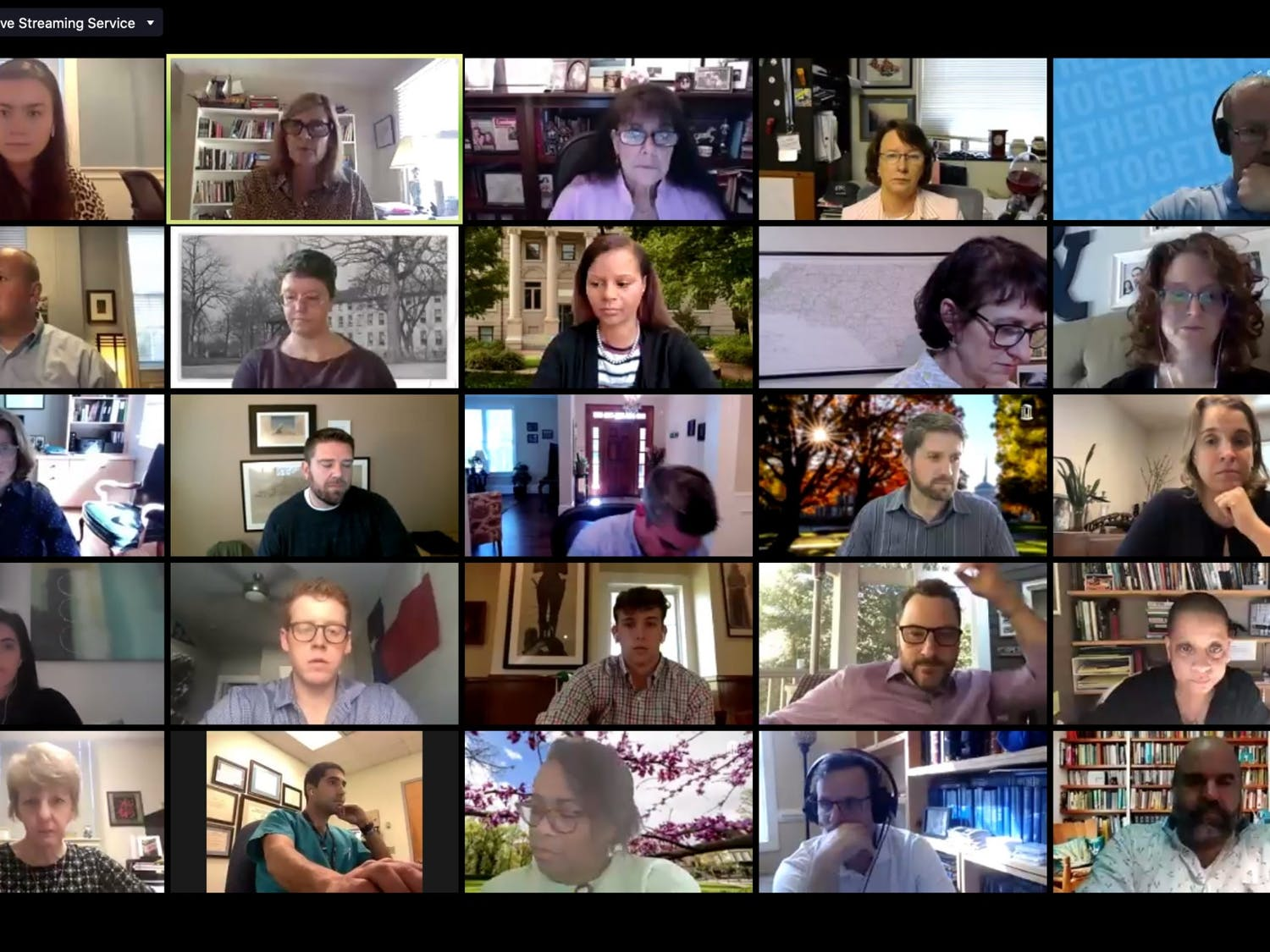 Screenshot from the virtually-held Campus Community Advisory Committee meeting on Monday, Oct. 13, 2020.