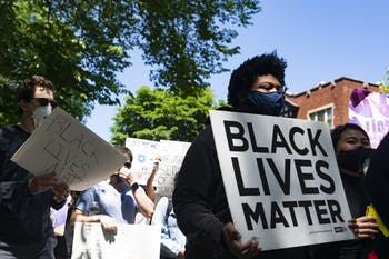 Students in Evanston, IL join countless other cities around the nation in support of the Black Lives Matter movement by protesting against George Floyd's death and other recent tragedies on Sunday, May 31, 2020.