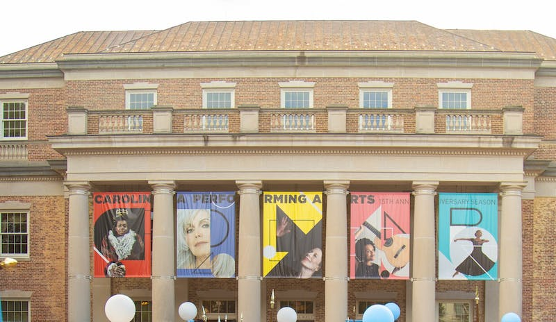 Memorial Hall, home to Carolina Performing Arts, pictured here on Saturday, Oct. 12, 2019.