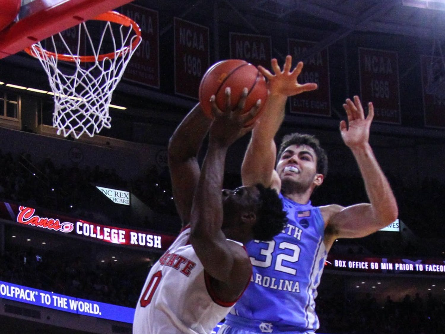 The North Carolina men's basketball team defeated N.C. State 97-73 in Raleigh Wednesday night.