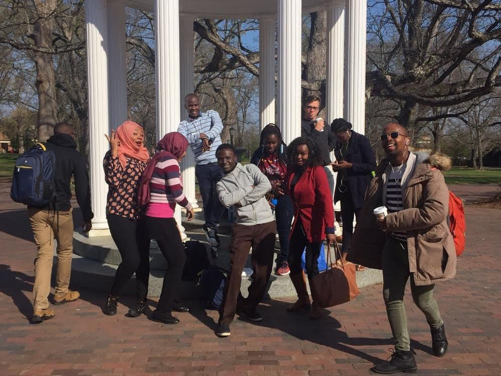 <p>The African exchange program works to bring African student leaders to the UNC campus. Photo courtesy of Bradley Opere.</p>