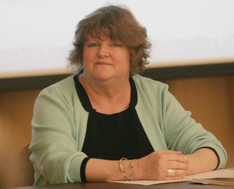 McKay Coble, at her last Faculty Council Meeting as the chair