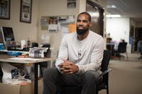 Antawn Jamison visits The Daily Tar Heel office on Tuesday, Jan. 29, 2019.