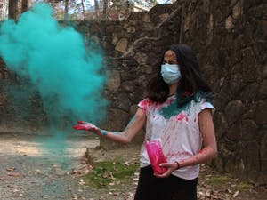 Alisha Kelkar celebrates a late Holi with friends on Thursday, April 1, 2021.