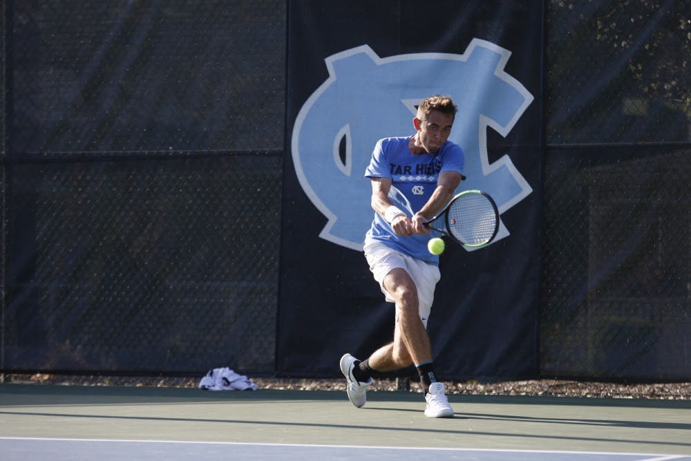 UNC men's tennis handles Boston College, remains perfect at home