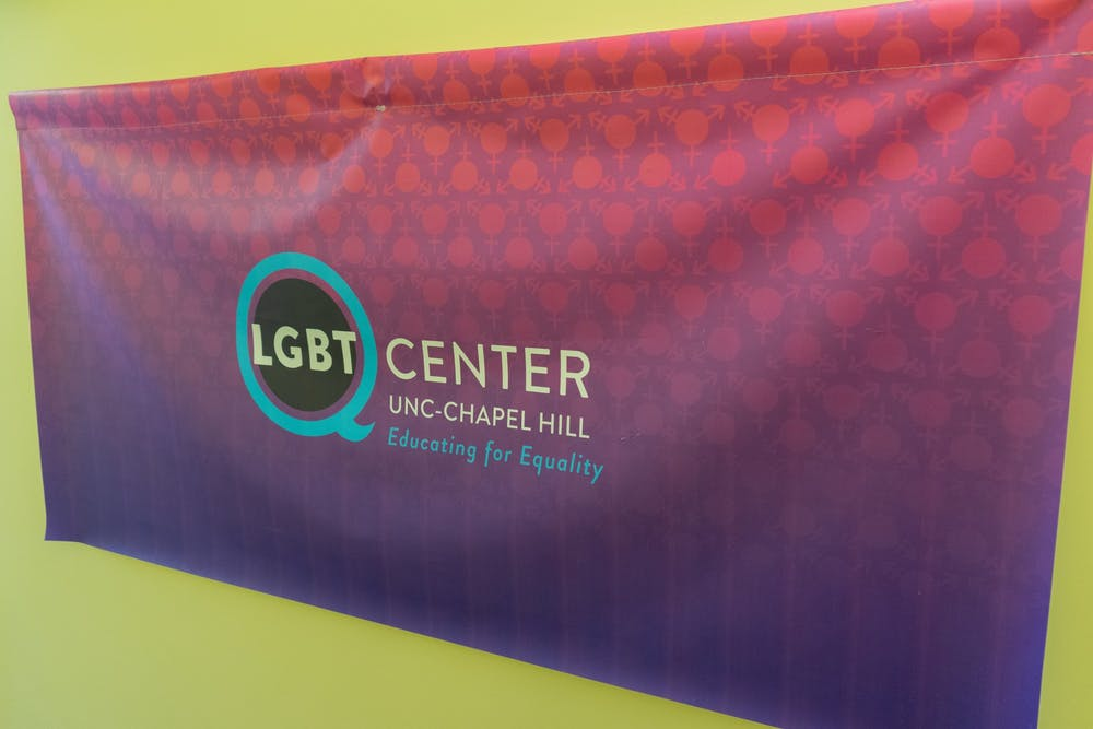 LGBTQ Center banner pictured on Sunday, August 29th, 2021.