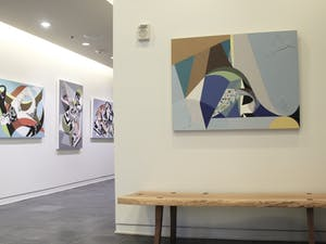 "The ""Transcending Geometry"" exhibition housed by Oneoneone, a contemporary art gallery inside of Sitzer-Spuria Studios, features Chapel Hill artists Chieko Murasugi, Neil Patterson and Louis Watts."