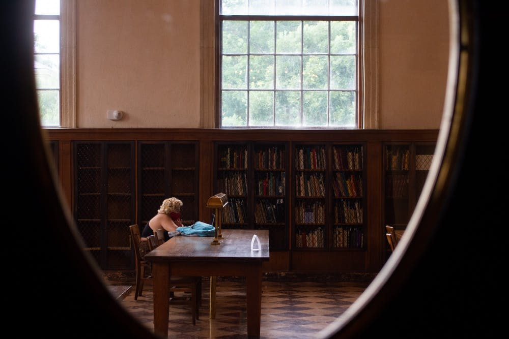 <p>Students return to UNC-Chapel Hill's Libraries before the start of the fall semester. The system has changed its building hours, added self-service checkout stations, and it has reduced overdue book fees.</p>