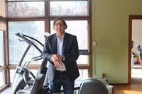 """""""The community... has been unbelievable for so many years,""""  says Dr. Claudio Battaglini, director of the Get REAL and HEEL program, an exercise oncology program for cancer patients located at the outdoor education center at the University of North Carolina at Chapel Hill on Tuesday, Feb. 19, 2019."""