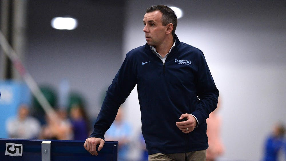 <p>UNC Track and Field head coach Chris Miltenberg has worked hard to rebuild the program and its culture from the ground up. Photo courtesy of UNC Athletic Communications</p>