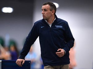 UNC Track and Field head coach Chris Miltenberg has worked hard to rebuild the program and its culture from the ground up. Photo courtesy of UNC Athletic Communications