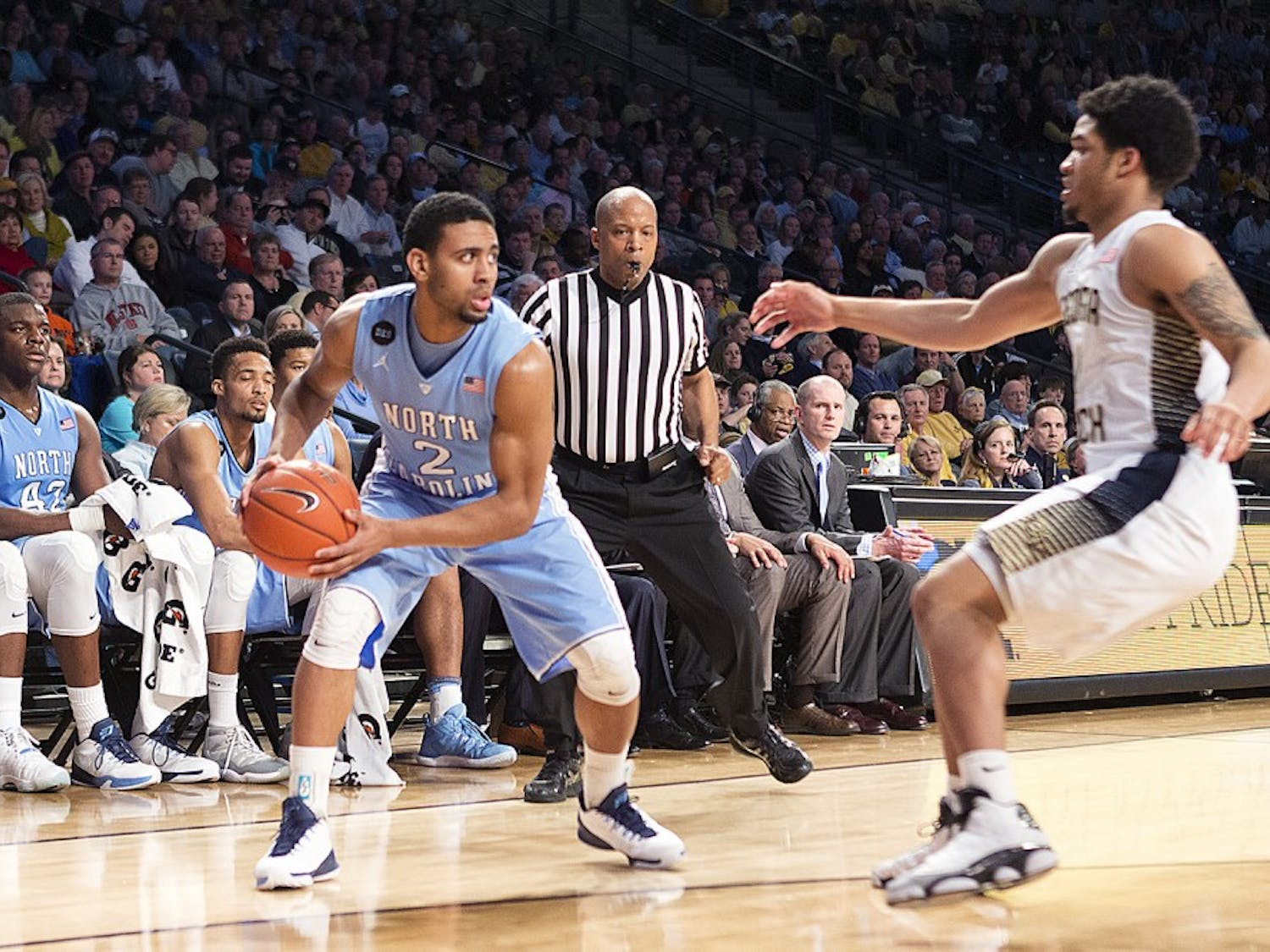 Courtesy of Technique/John Nakano. Freshman point guard Joel Berry (2) made a career-high 15 points Tuesday night in North Carolina's 81-49 win over Georgia Tech.