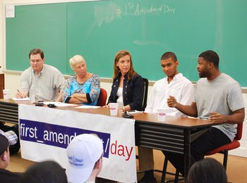 On Tuesday, September 27, UNC celebrated First Ammendment Day by hosting a panel in Carroll 103 to discuss UNC Football, Parking Tickets, FERPA, and Twitter. 