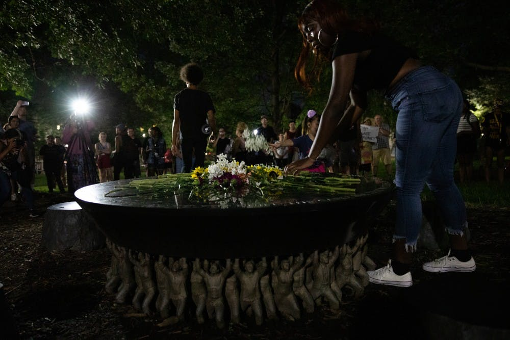 Protesters call for action on 'monuments to white supremacy' beyond Silent Sam