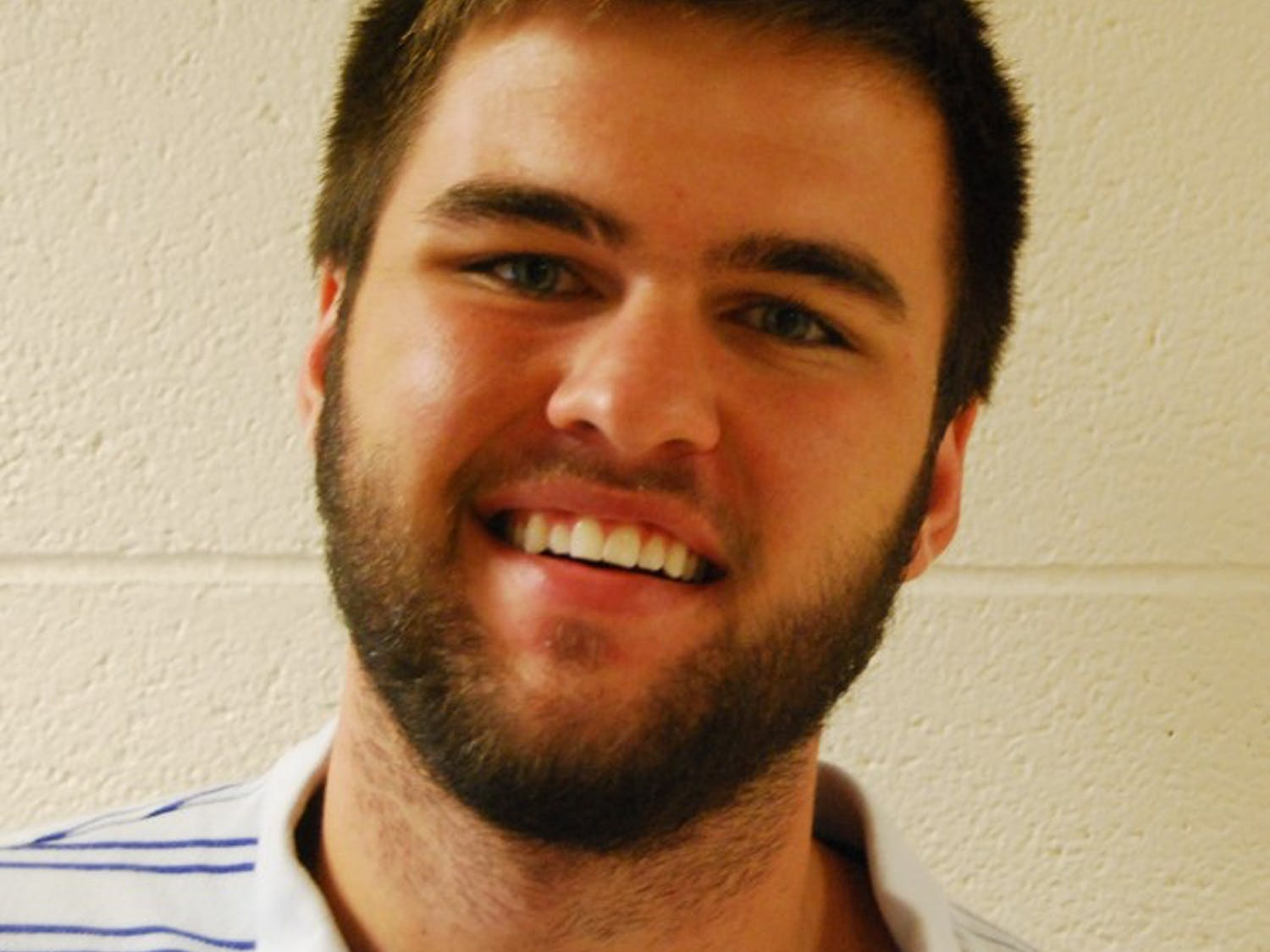 Senior business major Grant Miller is participating in No Shave November, a national event where people avoid shaving for a month.