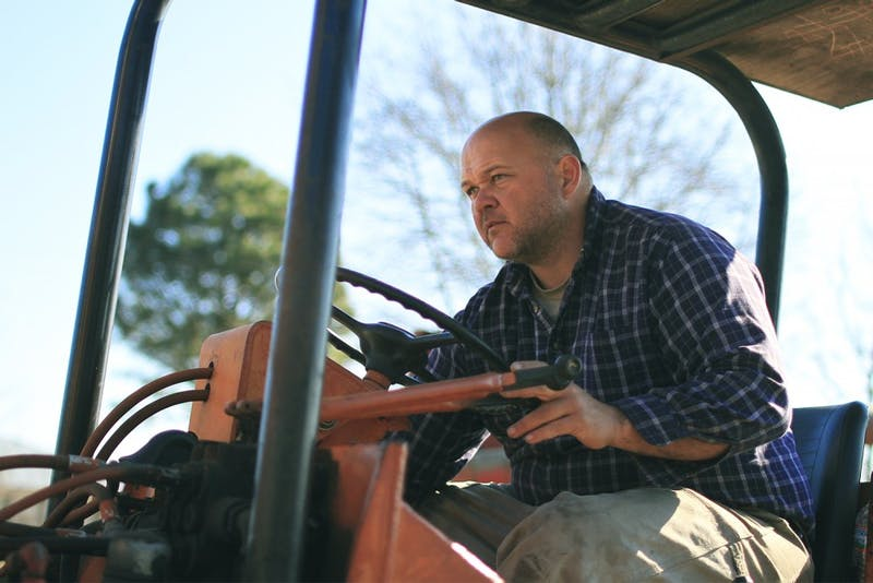 James West is one of several local farmers that supply food to UNC dining through FirstHand Foods.  A hog farmer himself, he has spent a great portion of his life raising the animals in a James West is one of several local farmers that supply food to UNC dining through FirstHand Foods.