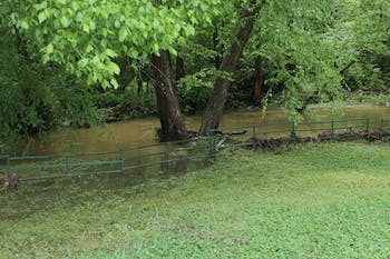Flooding occurred with the excessive amounts of rain over the past few days around Chapel Hill.