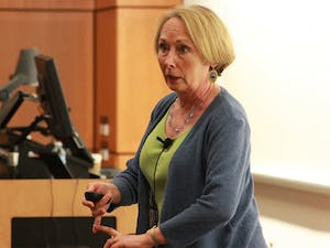 """Dr. Valerie Young gave a talk thursday evening in Koury Oral Health Sciences Building on Imposter Syndrome. On encouraging students to break out of their personal imposter experience, Dr. Young said """"Everyone loses when bright people play small."""""""
