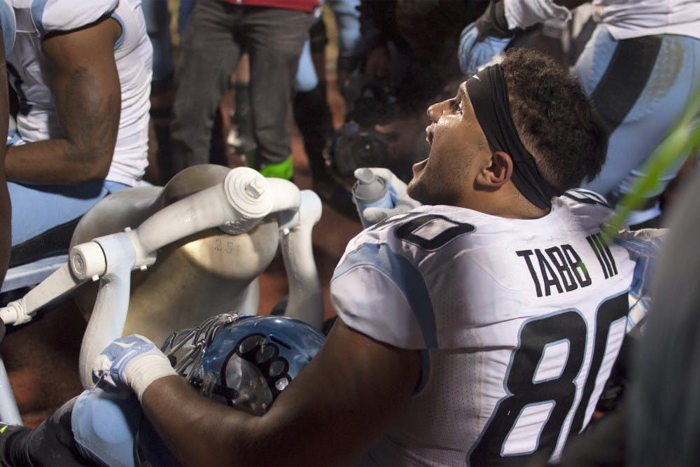 <p>For the first time in three years, the Tar Heels defeated the Duke Blue Devils and will bring the Victory Bell back to Chapel Hill — painted a lighter shade of blue.</p>