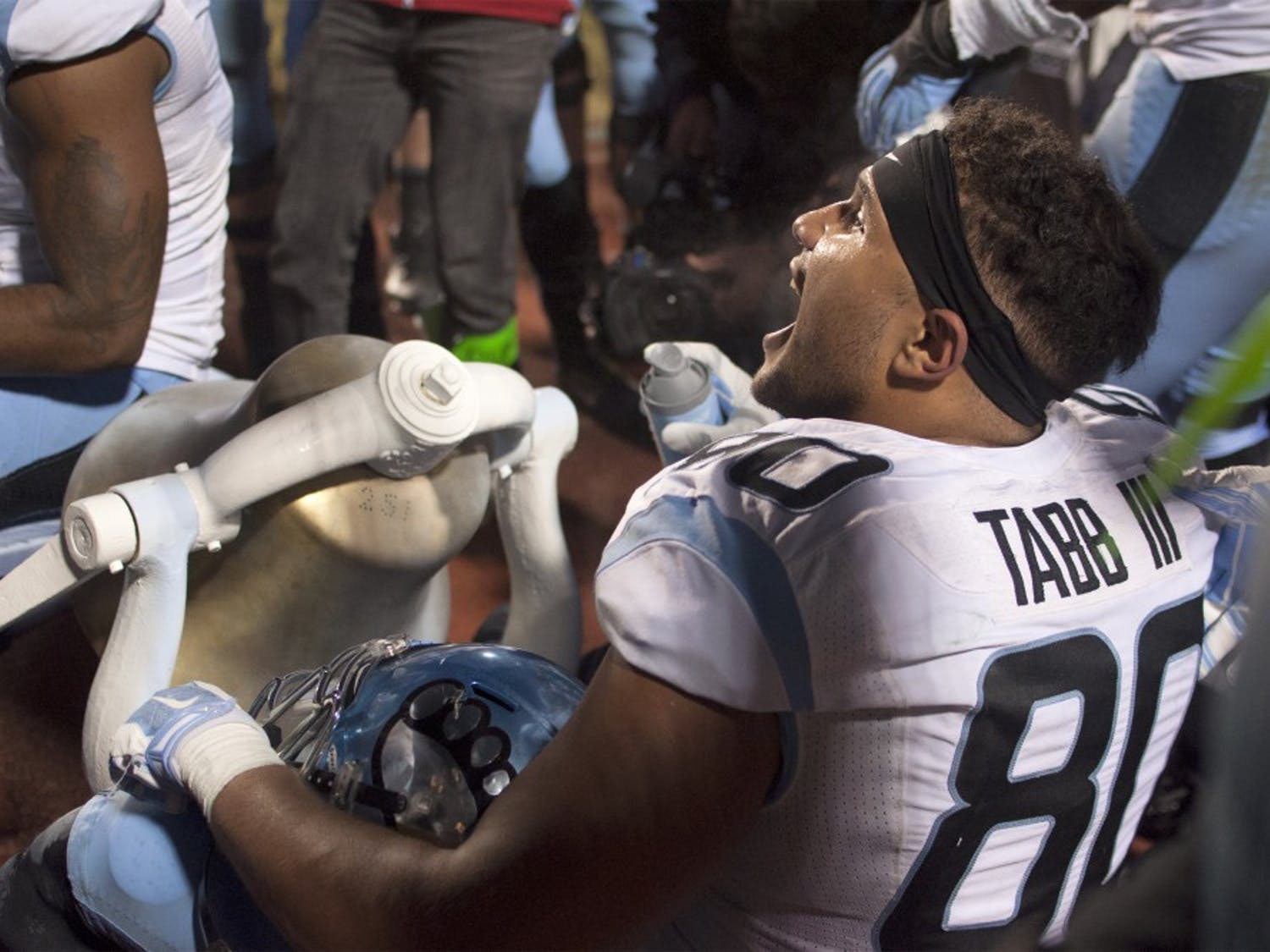 For the first time in three years, the Tar Heels defeated the Duke Blue Devils and will bring the Victory Bell back to Chapel Hill — painted a lighter shade of blue.