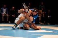 Redshirt senior Ethan Ramos wrestles against Duke on Feb. 15 in Memorial Hall.