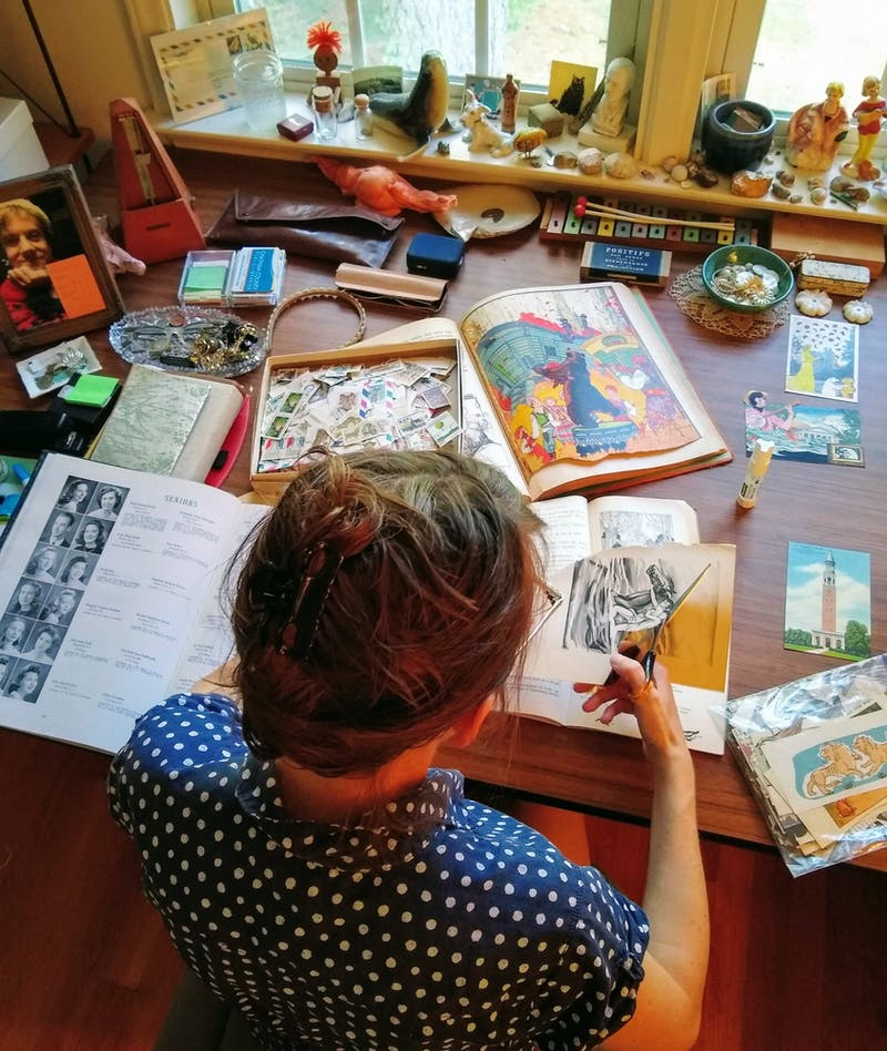 Artist Wendy Spitzer, as known as Felix Obelix, creating artwork. Photo courtesy of Billy Sugarfix.