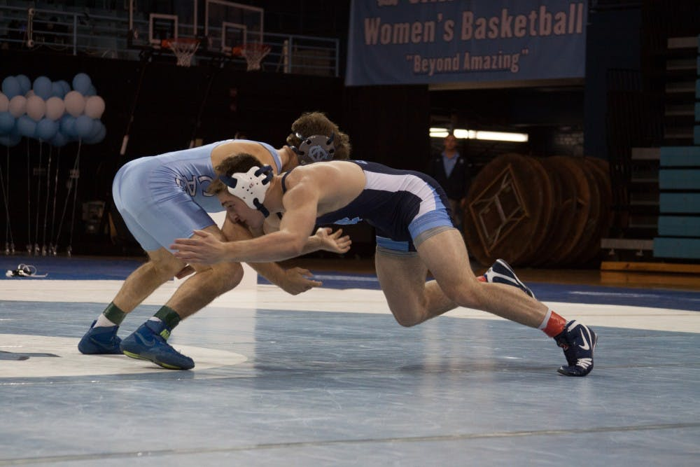 First-years O'Connor and Heilmann impress in No. 15 UNC wrestling win over App State