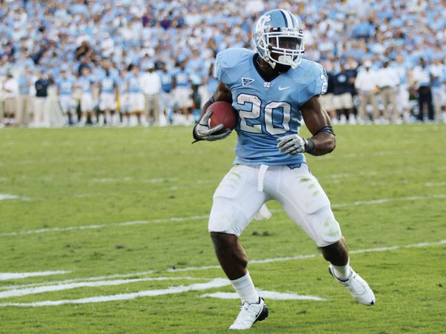 Shaun Draughn tallied three touchdowns against ECU. Draughn rushed for 98 yards in the fourth quarter alone and teamed with Johnny White for 223 yards in the second half.