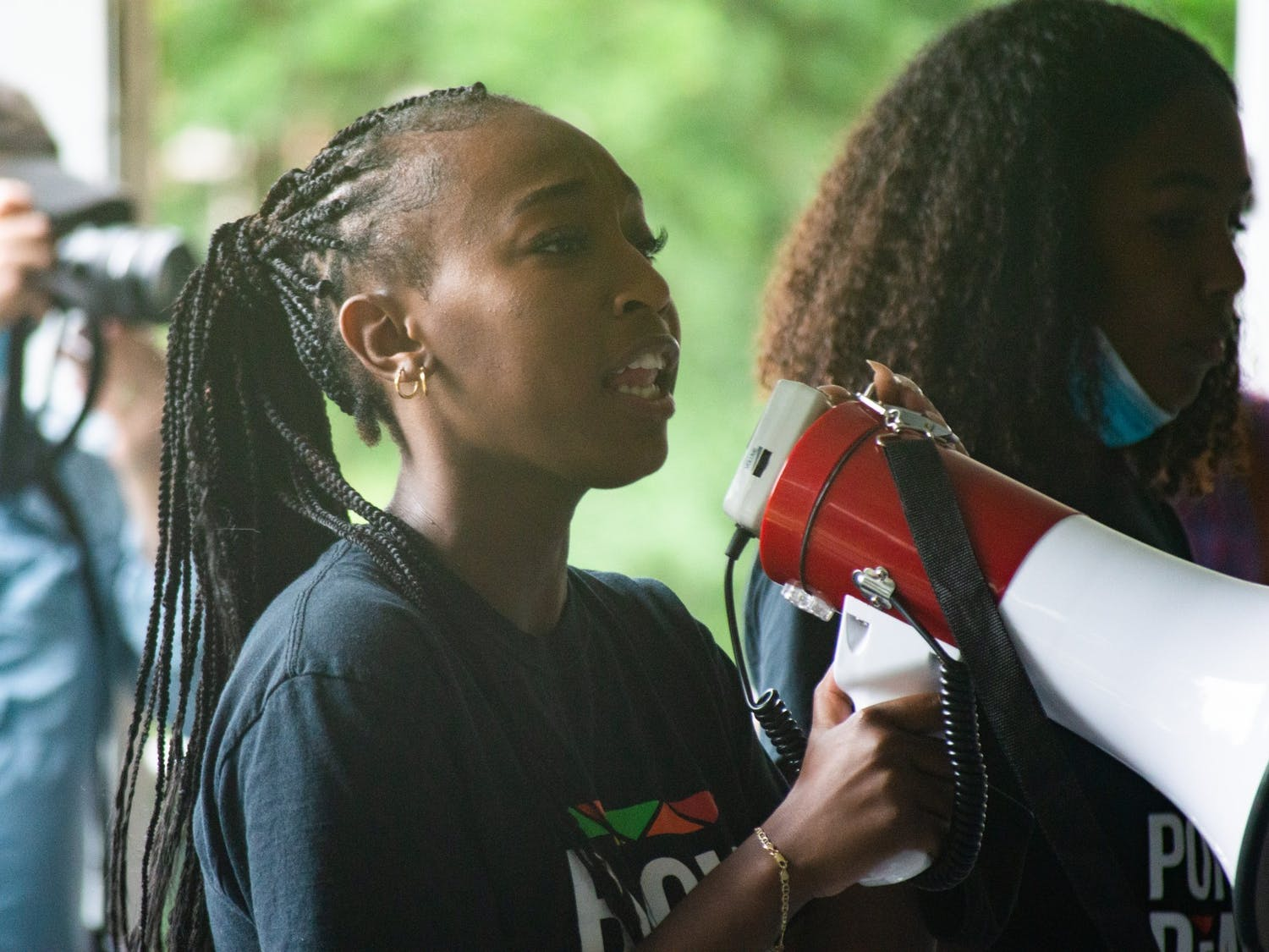 On June 25, 2021, the UNC Black Student Movement hosted a demonstration in support of journalist Nikole Hannah-Jones who was denied tenure by the UNC Board of Trustees. During the demonstrations, members of the Black Student Movement spoke of a list of demands directed at Chancellor Kevin Guskiewicz and the UNC Board of Trustees. Some of the 13 demands include diversifying the Board, a permanent memorial for James Cates and granting Nikole Hannah-Jones tenure.
