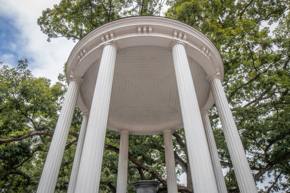 <p>The Old Well stands on Oct. 11, 2021.</p>