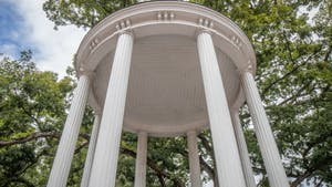 The Old Well stands on Oct. 11, 2021.