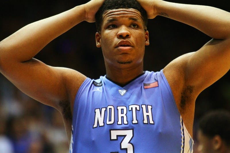 UNC forward Kennedy Meeks (3) scored 18 points against the Blue Devils.