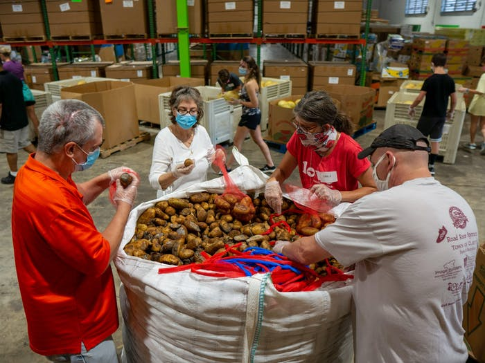 The Food Bank of Central and Eastern NC estimates over 750,000 people are facing hunger in its service area. One-third of them are children. Photo courtesy of Tom Simon