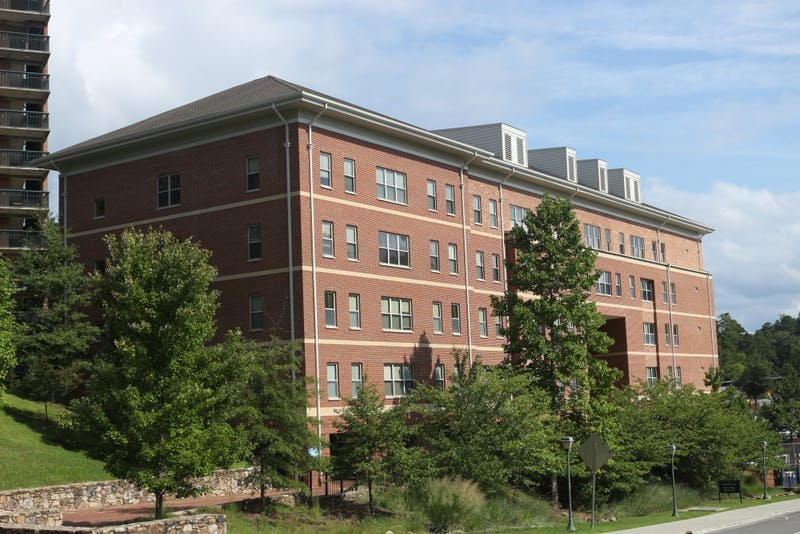 Taylor Hall, also known as Ram Village 4 is a residence hall that is located on South Campus behind the First Year dorm, Hinton James. This is one of the five buildings that makes up the Ram Village Community.i
