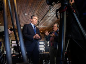 Gov. Roy Cooper visited Chapel Hill on Tuesday, Nov. 19, 2019  to announce that Well Dot Inc., a health technology company, will base its new operations center in the town and create 400 jobs.