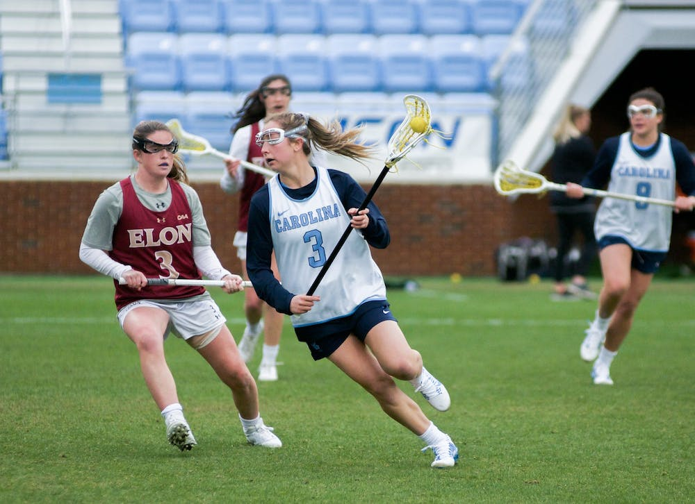 North Carolina women's lacrosse opens season with dominant 15-7 win over JMU