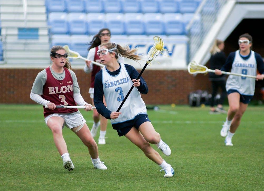 Jamie Ortega scores six, UNC women's lacrosse dominates Elon in exhibition, 20-3