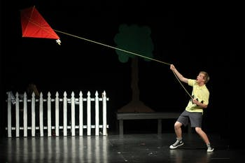 """Jonathan Scott plays Charlie Brown in Company Carolina's musical """"You're a Good Man, Charlie Brown."""""""