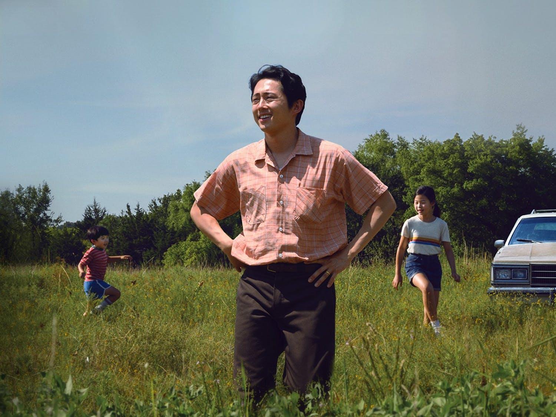 "Alan S. Kim, left, Steven Yeun, Noel Cho and Yeri Han in A24's ""Minari."" Photo courtesy of David Bornfriend/A24/TNS)"