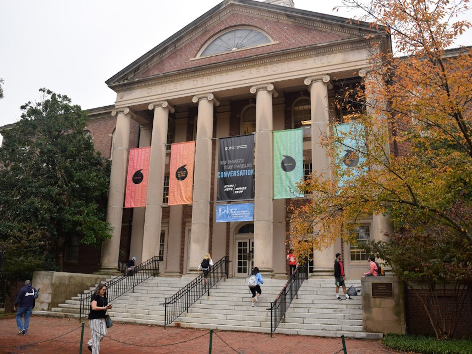 Carroll Hall is the home of UNC's Hussman School of Journalism and Media.