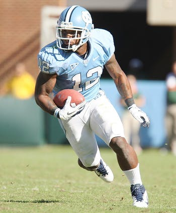 UNC lost to Miami 30-24 on Saturday, Oct. 15, 2011.